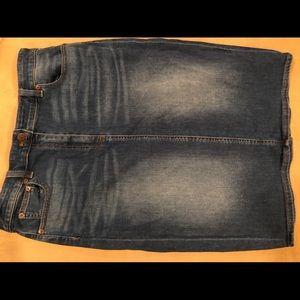 JCrew denim pencil skirt